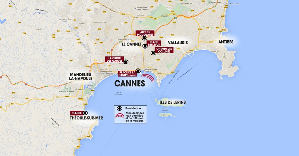 map cannes