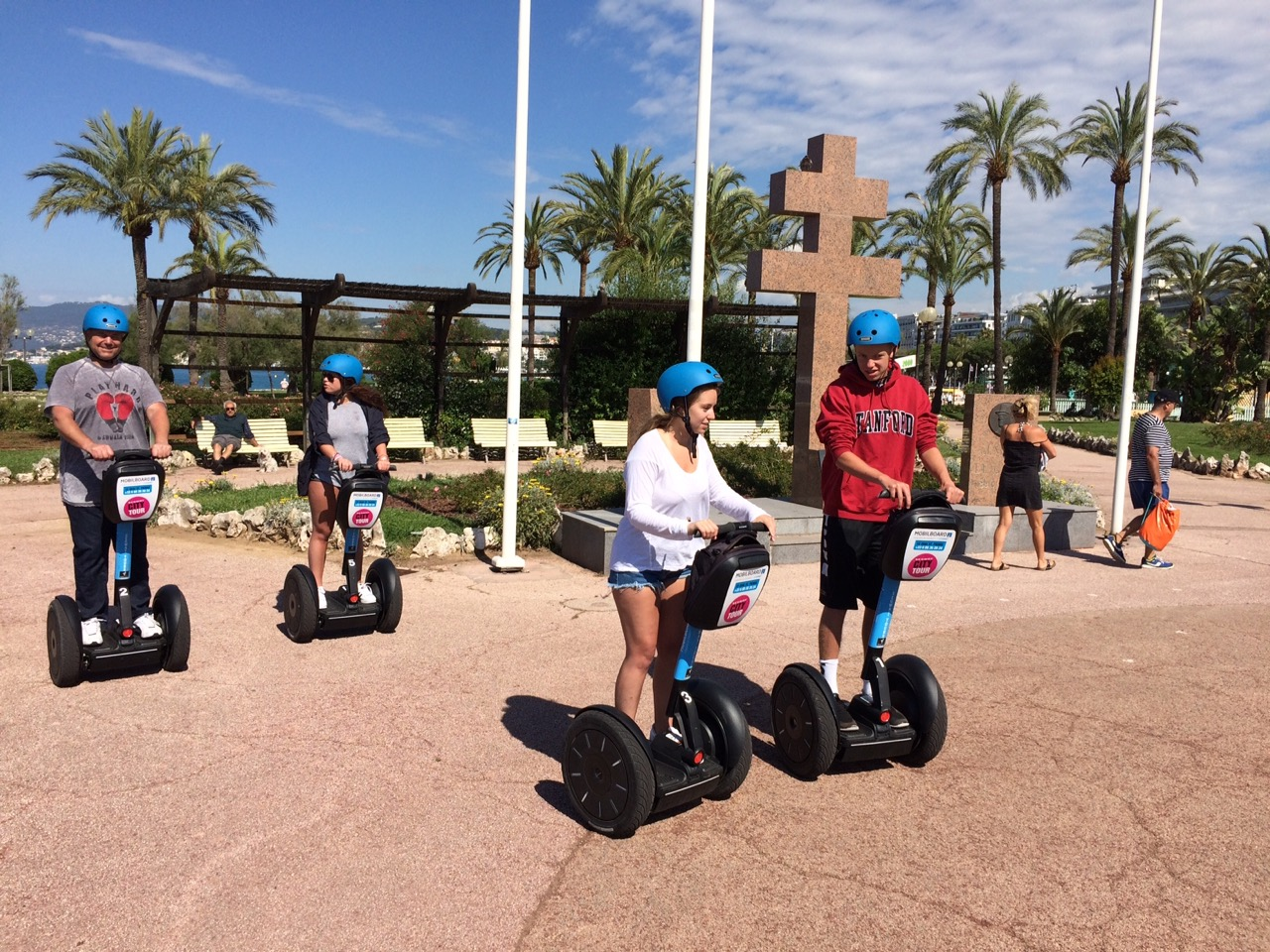 City Tour by MobilBoard Segway Cannes - The gardens of the Roseraie at the end of the Croisette.