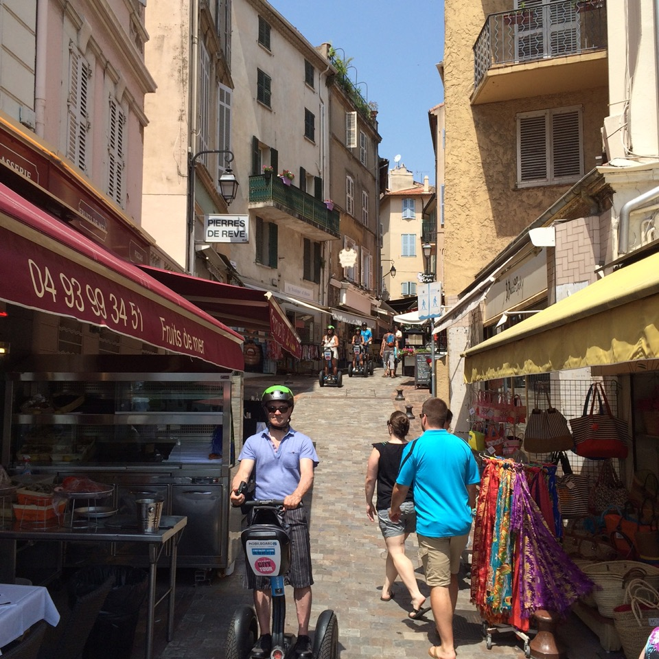 City Tour by MobilBoard Segway Cannes - in the narrow streets of Le Suquet, typical old town of Provence