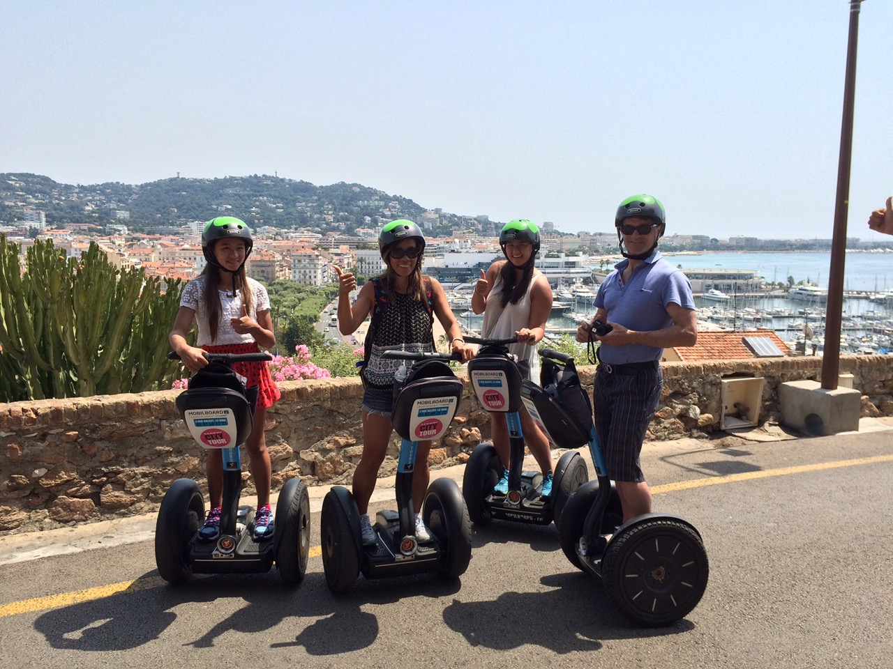 City Tour by MobilBoard Segway Cannes - Place de la Castre , the highest point of Cannes with its panoramic view on the bay
