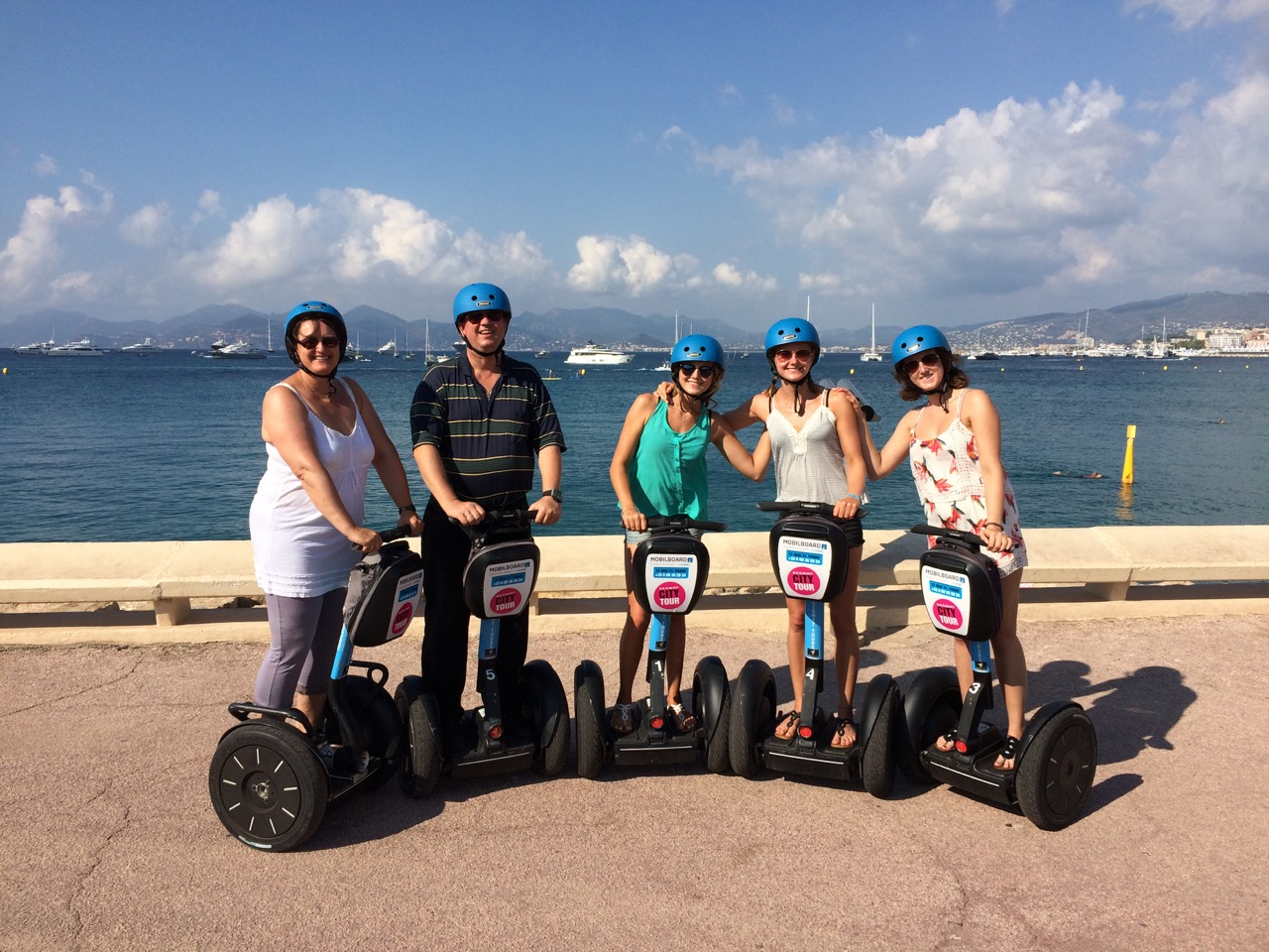 City Tour by MobilBoard Segway Cannes - The Quai Saint-Pierre and its Old Port between its new last yachts and old rigging