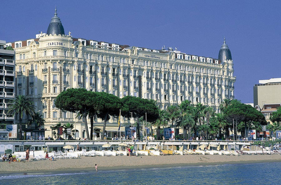 The mythical and majestic Carlton was at the heart of the route along La Croisette